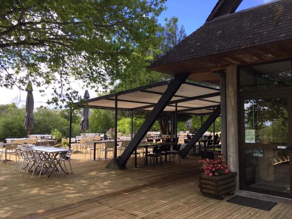 Chalet des Pierres Jaumâtres - restaurant dans la Creuse - nouvelle terrasse 2021 agrandie