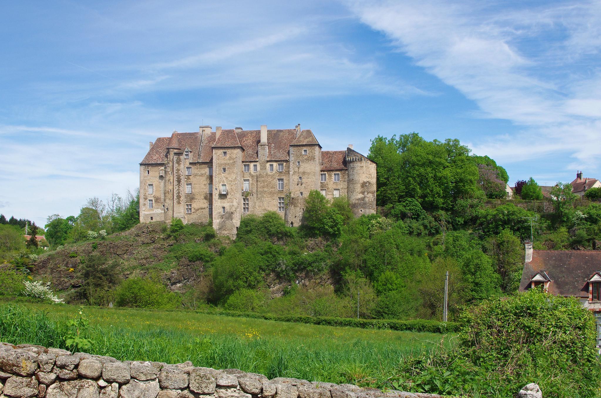 Chateau de Boussac dans la Creuse - photo originale de Daniel Jolivet - Licence Creative Commons 2.0