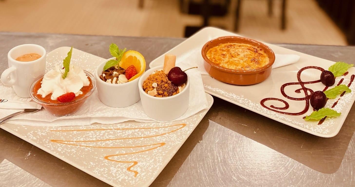 café gourmand et crème brûlée - le chalet des pierres jaumâtres -restaurant dans la Creuse
